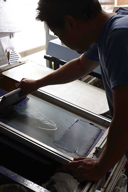 衣料品印刷工場